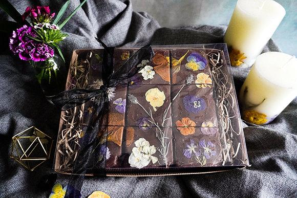 Floral Triple Chocolate Brownies