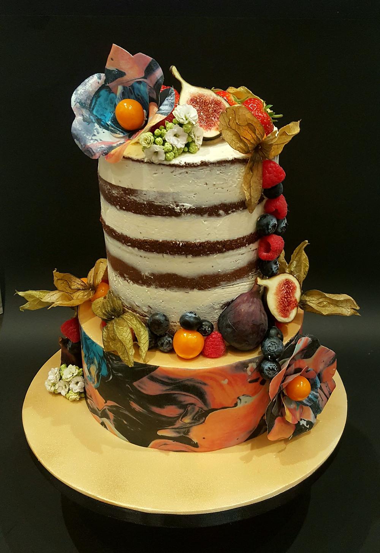 Semi naked wedding cake | urban cakehouse Sheffield