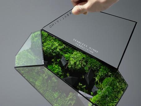 TerraLiving's Geometric Terrarium & Glass Sculpture Seamless Hinge