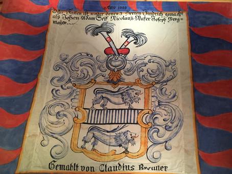 """Pfänder-Fahne von 1822 """"entdeckt"""", wie alt ist die Burkhardia wirklich?"""