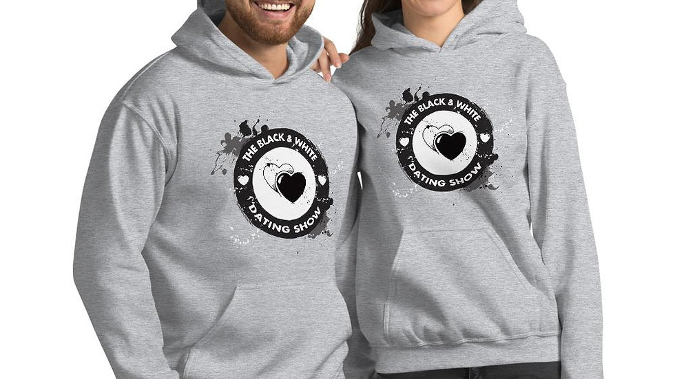 The Black & White Dating Show Grey Unisex Hoodie