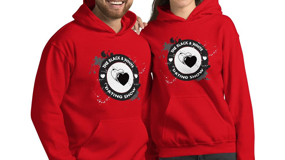 The Black & White Dating Show Red Unisex Hoodie