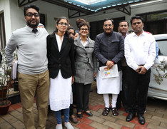 Team Juvenate with Dr. Ramesh Pokrial ''Nishank'' Minister of Education Govt. of India