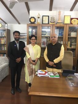 Member Of Parliament Rajya Sabha, National Vice President BJP, Chairman of committee of Ministry of Education, President of ICCR - Hon'áble Dr. Vinay Sahasrabuddhe