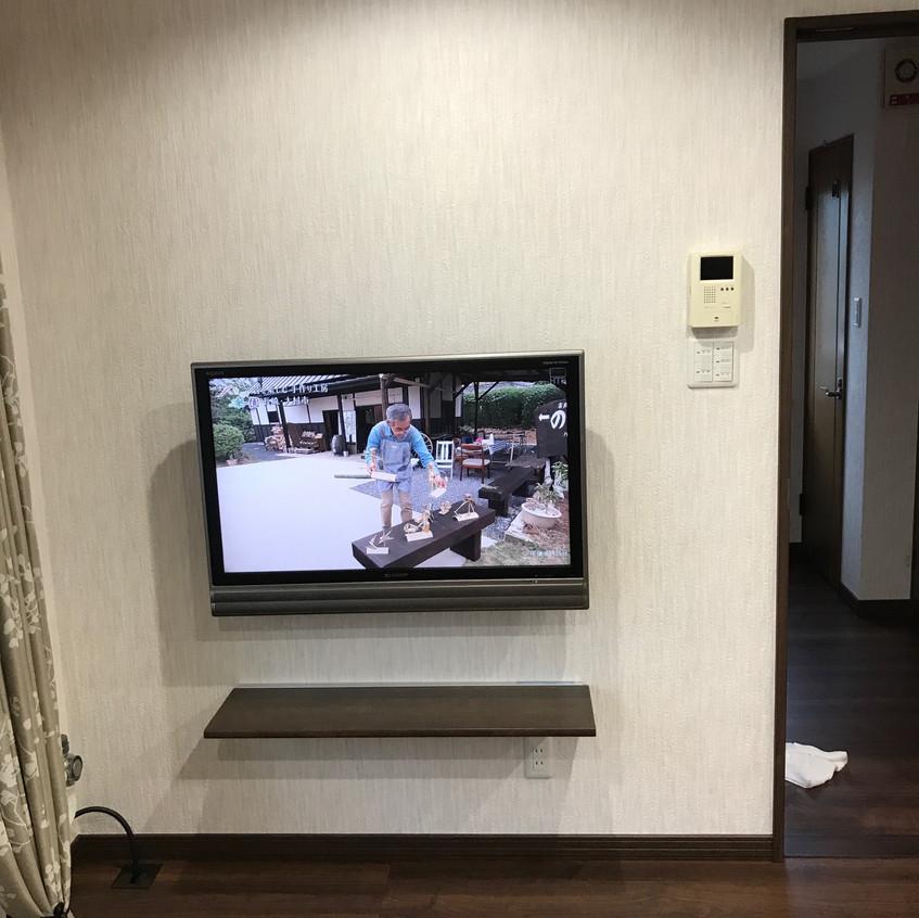 TV・カウンター 取付