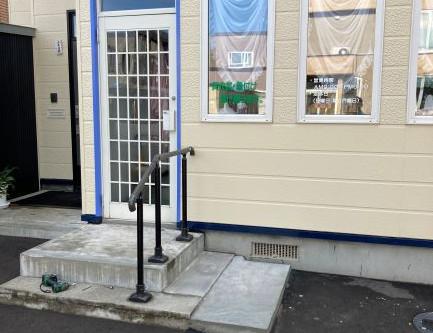 石狩市美容室の風除室新設工事