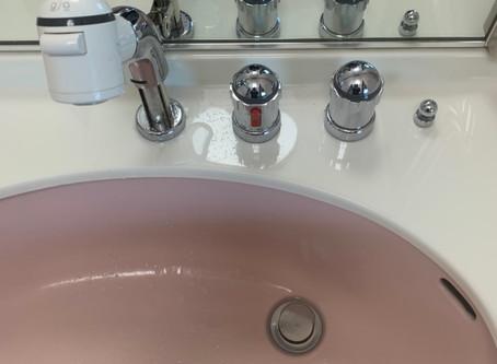 洗面台改修 混合栓に取替え
