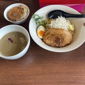 久しぶり麺BLOGは綱取物語のアンチョビつけ麺&ミニチャー丼