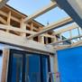 2階増築と既存取合い(屋根部分)施工中.JPG
