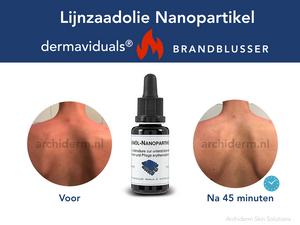 dermaviduals Lijnzaadolie nanopartikel, zonverbrande huid