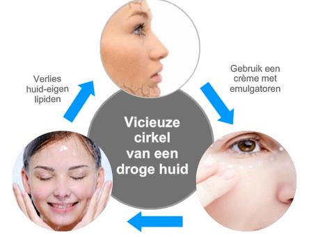 Hoe komt het dat emulgatoren onze huid droger maken?