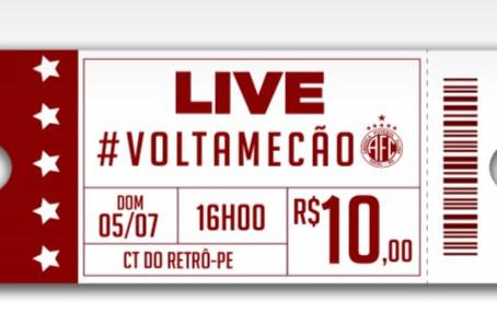 Live paga 62,5% da despesa do América/RN em Recife