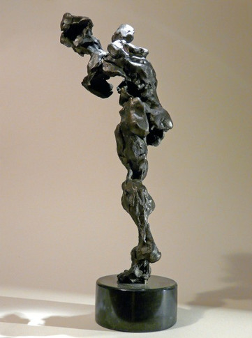 Rear View - Sculpture (Bronze on Marble)  14'' H x 6'' W x 4'' D  Price Available Upon Request