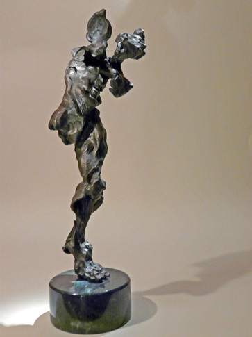 Front- Sculpture (Bronze on Marble)  14'' H x 6'' W x 4'' D  Price Available Upon Request