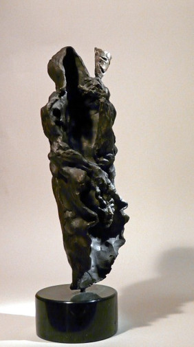 "3/4 View - Sculpture (Bronze on Marble)  14""H x 6""W x 5"" D  Price Available Upon Request"