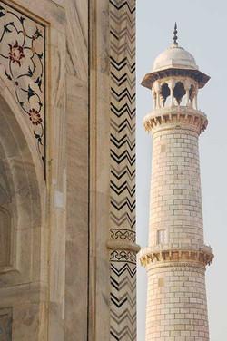 Taj Mahal Wall and Tower