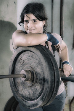 Smiling Weight Lifter