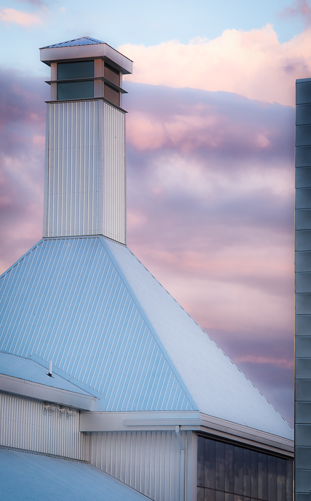 tower on pink