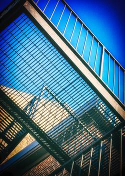 Grid on Blue