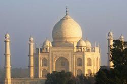 Taj Mahal Facade Sunrise