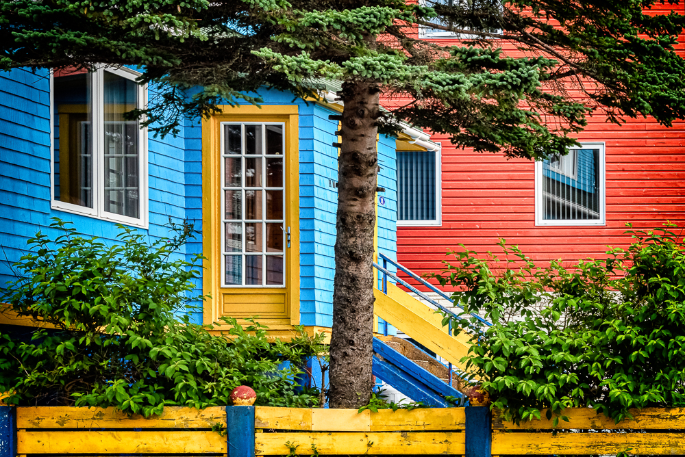 St Pierre Colourful Houses