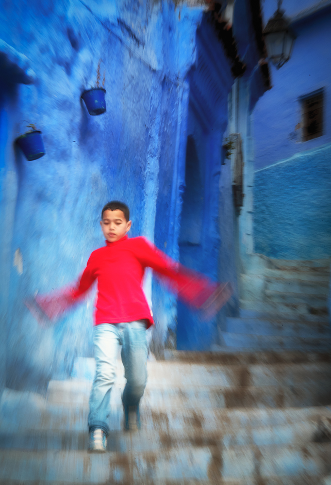 Chefchaouen Boy in Red