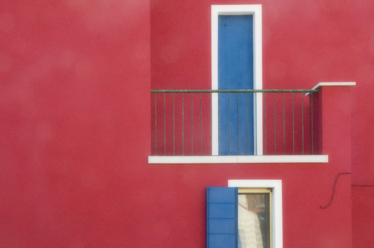 Red Wall Blue Door