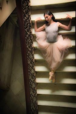 Ballerina on Stairs