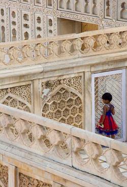 Agra Red Dress