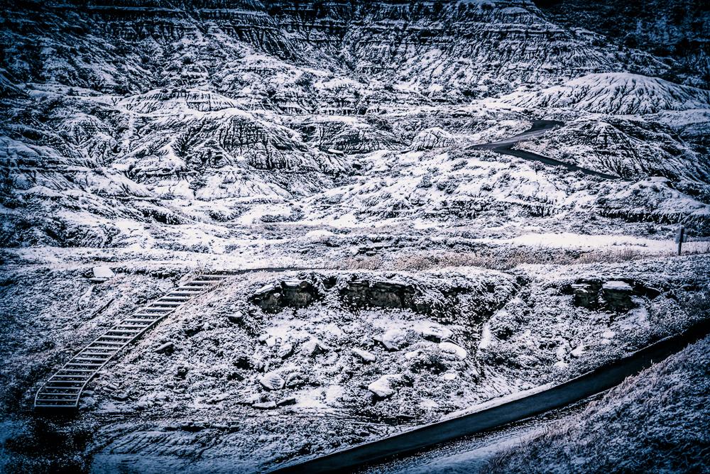 Snowy Drumheller Alberta