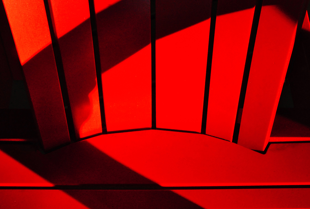 Red Chair Black Shadow