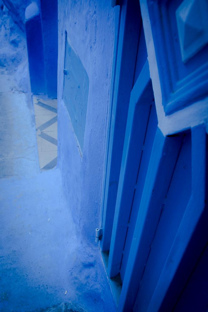 Chefchaouen Blue Abstract