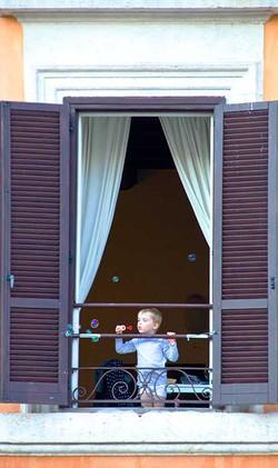 Boy and Bubbles Campo Di Fiori