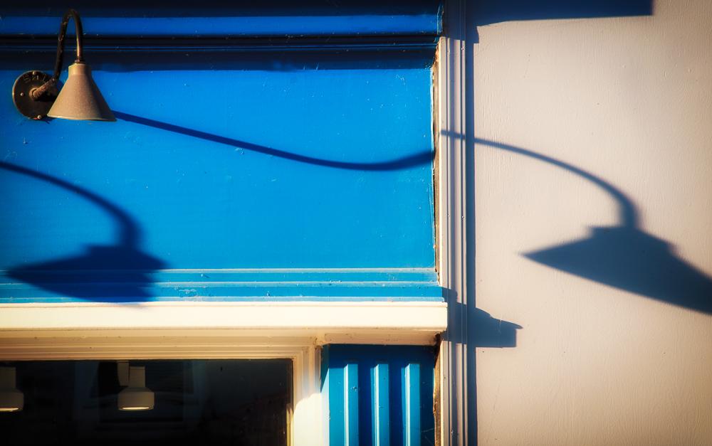 Light Shadow on Blue
