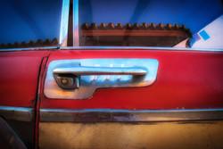 Red Car Door