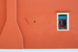 Orange Wall Blue Window