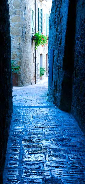 Blue Walkway Pienza