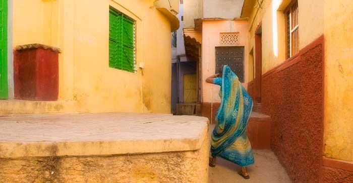 Bundi Walking Woman