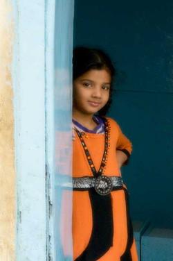 Jaipur Doorway Girl