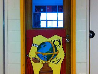Classroom Door Murals