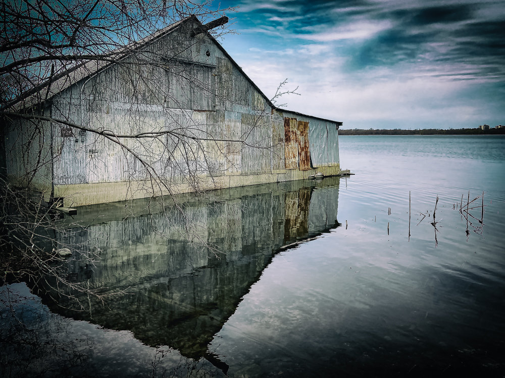 Barriefield Boathouse Reflection