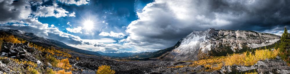 Frank Slide Panorama Alberta