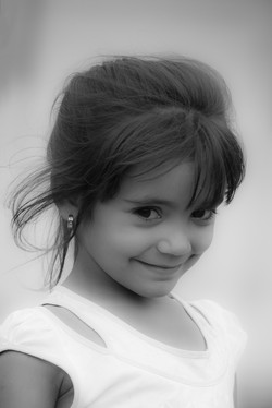 Girl in Black and White