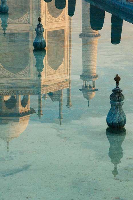 Taj Mahal Close Reflection