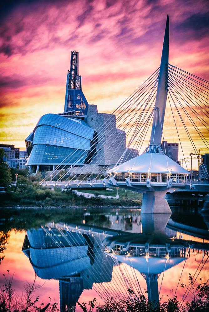 CMHR & Riel Bridge Winnipeg