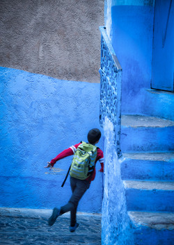 Chefchaouen Boy on the Move