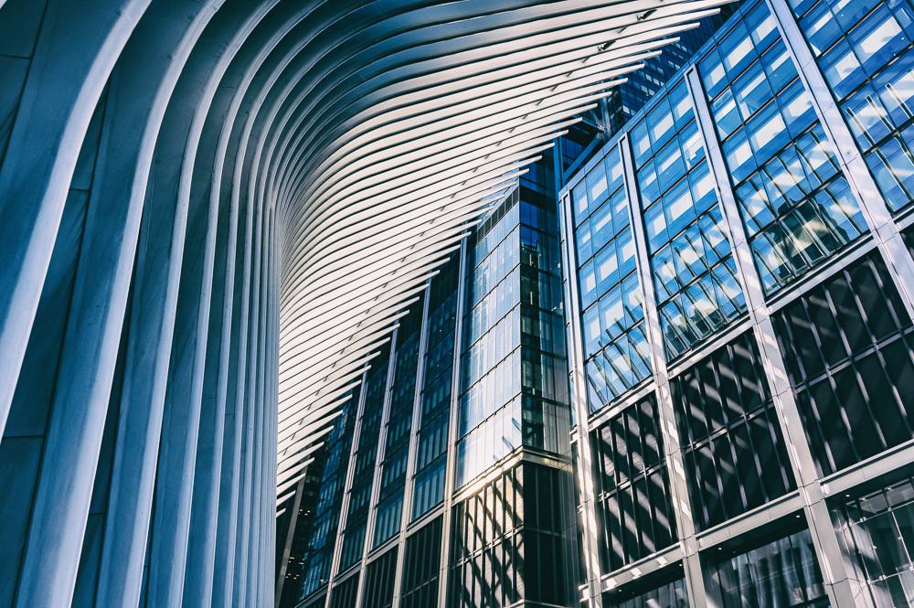 NYC Oculus and Skyscraper