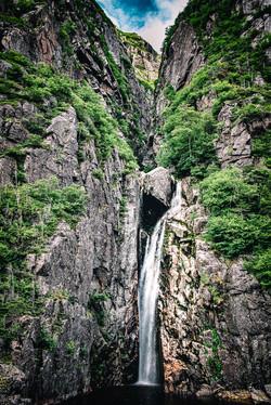Western Brook Pond Waterfall