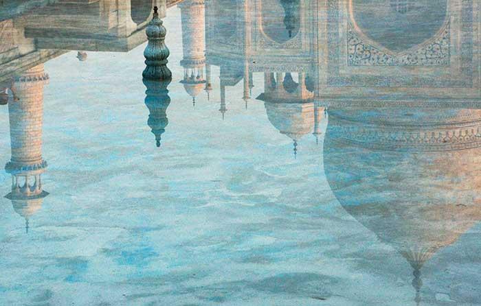 Taj Mahal Wavy Reflection