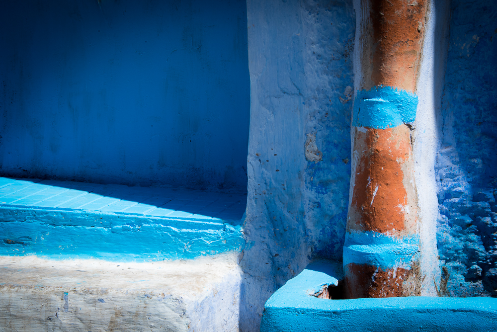 Chefchaouen Blues and Gold
